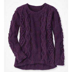 NWT Coldwater Creek Violet Cable Sweater L